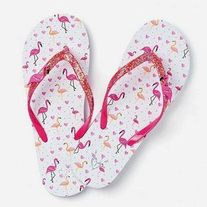 Justice Flamingo Charm Little Girls Flip Flops